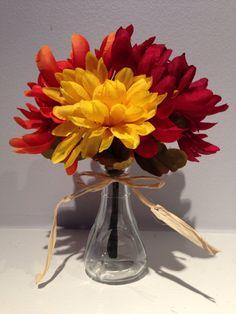 Fall Floral Decor / Wedding Centerpiece / by EmpatheticElephant, $7.50