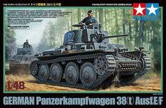 Tamiya 32583 1/48 Scale Model Kit German Panzer Panzerkampfwagen 38(t) Ausf.E/F #Affiliate