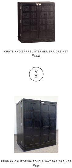 @Crateandbarrel Steamer Bar Cabinet $1,399 vs @Wayfair Proman California Fold-A-Way Bar Cabinet $795
