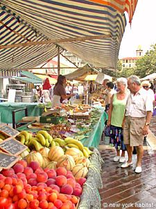 Typical French Riviera Market in Nice