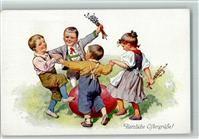 BKW Serie 4129-3 - Kinder tanzen - Ostern