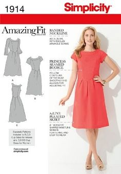 Simplicity Patterns Plus Size Maxi Dresses with Sleeves