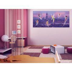 WallandMore Disney Fairytale Wall Decal Mural For girls Room Decor W by H - Wall Decals For Girls. Disney Wall Murals, Disney Rooms, Girls Bedroom, The Little Mermaid, Wall Decals, Fairy Tales, Kids Room, Room Decor, Black Friday