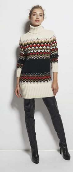 Kiowa Pull : Laine › Pull › Femme › Laines Bouton d'Or Long Sweaters, Or, Knitwear, Boutique, Knitting, How To Wear, Dresses, Fashion, Button