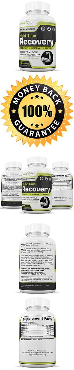 Night Time Recovery Muscle Recovery Pills That Work  Natural Amino Acid Support and Deep Sleep Promoter with L-Glutamine, L-Leucine  Promote Deep Sleep and Increase Muscle Growth  150 Capsules