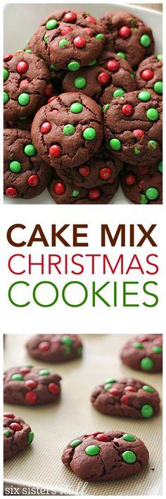 Cake Mix Christmas Cookies on SixSistersStuff.com