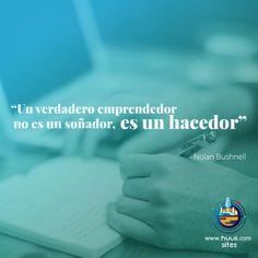 Un verdadero emprendedor no es un soñador,es un hacedor #frases #huuii #emprendedor #hacedor