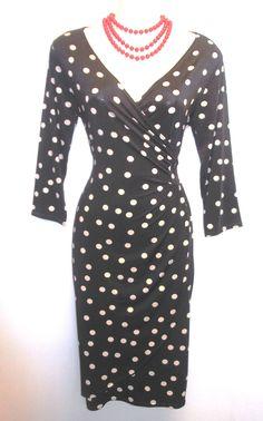 New Ladies Slinky 1950s style PinUp Wiggle moc Wrap Rockabilly Mad Men Dress | eBay