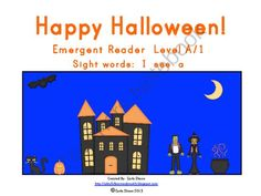 Great Halloween reader for your Level A's or 1's  $1.00