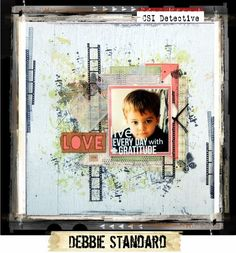 """""""LOVE"""" Layout by Debbie Standard ~ Scrapbook Pages 3."""