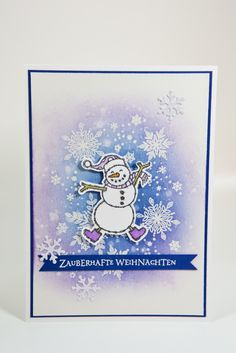 Snowman card with Stampin & material!- Schneemannkarte mit Material von Stampin' Up! Snowman card with Stampin & # s Up! Create Christmas Cards, Merry Christmas Card, Stampin Up Christmas, Xmas, Stampin Up Weihnachten, Stampin Up Karten, Stampin Up Cards, Winter Karten, Snowman Cards