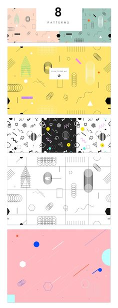 Holographic backgrounds + patterns by PonyHead on @creativemarket
