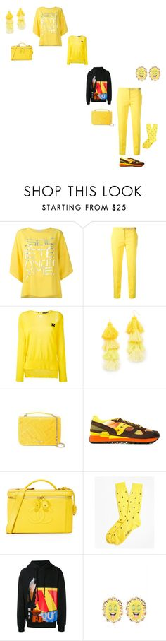 """""""be calm"""" by emmamegan-5678 ❤ liked on Polyvore featuring Versus, Rochas, Misa, Saucony, Brooks Brothers, Juun.j and Bijoux de Famille"""