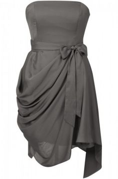 Saphire Style Grey Hitched Dress Bridesmaid Dresses in burnt orange, copper, chocolate or champagne. (really like this one)