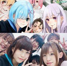 anime re:zero voice actore Otaku Anime, Manga Anime, Anime Art, Anime Cosplay, Re Zero Wallpaper, Hair Gif, Animé Fan Art, Cute Twins, Anime Love Couple