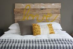 homemade headboard