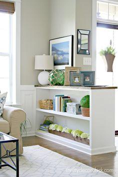 half wall bookcase
