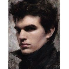 'Alla prima painting of Andrew' by Casey Baugh.