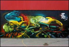 Graffiti Wall Art, Graffiti Painting, Street Art Graffiti, Mural Art, Graffiti Wildstyle, Amazing Street Art, Airbrush Art, Wild Style, Land Art