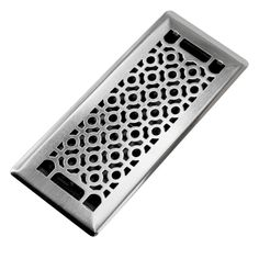 Trademark Tools Cosmo 4 in. x 10 in. Steel Beveled Edge Floor Register-87707 - The Home Depot