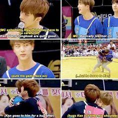 I love Jin and Ken's friendship. Ahjummas lol jk;