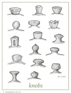 #DIYKnobs #pmimayjune2013 #potteryillustrated  Hey fans, have you checked out our Pottery Illustrated section? In the May/June 2013 issue, artist Robin Ouellette showed us all the different ways to create a knob. The possibilities are endless!