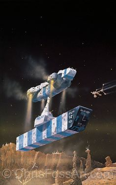 Chris Foss Art - early scifi days reading dads novels