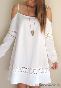 Cold Shoulder Crochet Dress – Lookbook Store