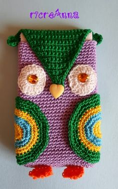 Porta cellulare gufo a crochet !!! | ricreAnna - Creazioni all'uncinetto
