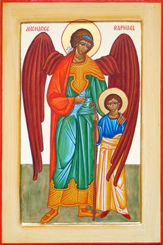 Archangel Raphael and Tobias #angels #archangel #raphael