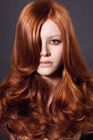 Fall Hair Color: Pumpkin Spice  COLOR, CUT, LONG, MODEL, NOTED, RED, SEXY, STYLE  image