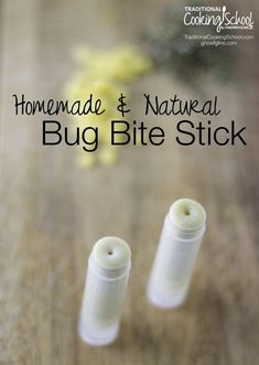 """Homemade & Natural Bug Bite Stick 