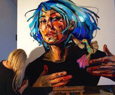 HUMMINGBIRD 140x160cm/ 2017 oil on canvas/ STUDIO-process