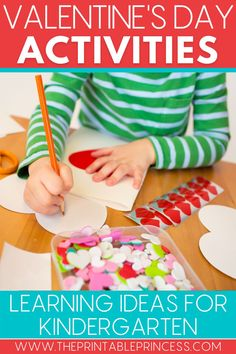 Want your students to fall in love with learning? These 8 Valentine's Day ideas for kindergarten will bring the fun and joy to your February lesson plans. Check out these ideas for Valentine's Day math and literacy activities, Valentine's Day crafts, and Valentine's Day snacks. #valentinesdayactivities #kindergartenteacher #iteachk Great Valentines Day Ideas, Valentines Day Activities, Valentine Day Crafts, Letter Activities, Kindergarten Activities, Art Activities, Preschool, Letter Sounds, Kindergarten Teachers