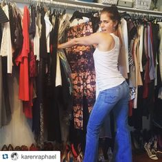 @karenraphael giving me life! #SoMuchFabSoLittleTime #nofilter #flatlining #bootytooch ・・・ She's finally baaaack!! Love fittings with @therealanaortiz. #Cantstoplaughing #Hashtagflatlining