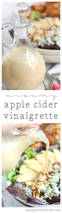Creamy Apple Cider Vinaigrette Dressing list of ingredients is short, sweet, and to the point.