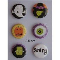 Selfadhesive Metal buttons 06 helloween
