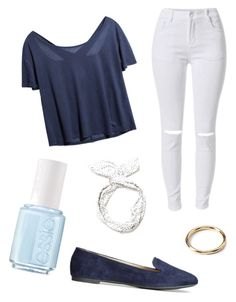 """""""Untitled #66"""" by megan-major ❤ liked on Polyvore featuring H&M, Essie, Forever 21, women's clothing, women's fashion, women, female, woman, misses and juniors"""