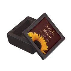 Sunflower Wedding Premium Gift Box