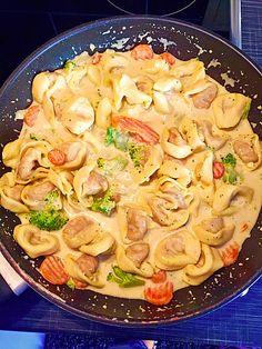 Tortelloni in Käse - Sahne - Sauce (Rezept mit Bild) | Chefkoch.de