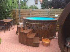 Uwe, Biederitz, Deutschland - Hot Tub Backyard, Garden Landscaping, Landscaping Ideas, Landscape Plans, Outdoor Furniture Sets, Outdoor Decor, Garden Planning, Firewood, Hot Tubs