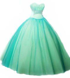 vestidos de xv años color azul aqua - Buscar con Google