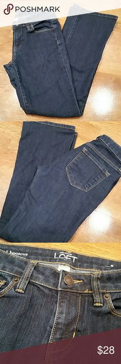 Ann Taylor Loft Original Boot Cut Jeans Ann Taylor Loft original boot cut jeans, size 2P. (Dark denim) in excellent condition. Ann Taylor Jeans Boot Cut