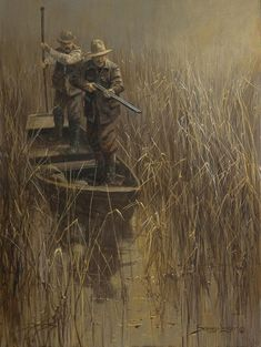 Ghost Hunting Not Just Wildlife Art of John & Suzie Seerey-Lester Hunting Art, Ghost Hunting, Hunting Dogs, Duck Hunting, Hunting Painting, Wildlife Paintings, Wildlife Art, Hunting Pictures, Waterfowl Hunting