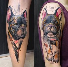 Abstract Dog Tattoo by Schwein