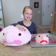 Blobfish Birthday Cake & Stuffed Animal | BabesInHairland.com #blobfish #blob #birthdaycake #happybirthday