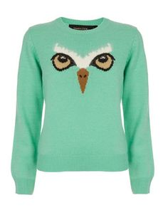 Owl Sweater ...... KODY and sweaters like this are a def NOOOOOOOO !!!!