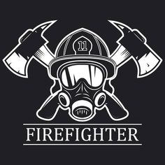 Mask firefighter and two axes. Firefighter Drawing, Firefighter Images, Fire Hose Crafts, Silouette Cameo Projects, World In Motion, Paper Clip Art, Fire Training, Gym Logo, Star Stencil