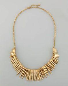 hammered spike necklace