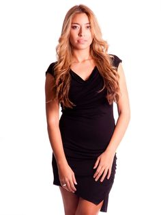 MICHAEL Michael Kors | Ruched T-Shirt Dress in black www.sabrinascloset.com